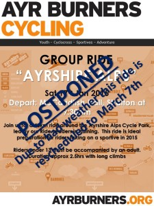 Ayrshire Alps Ride - Postponed