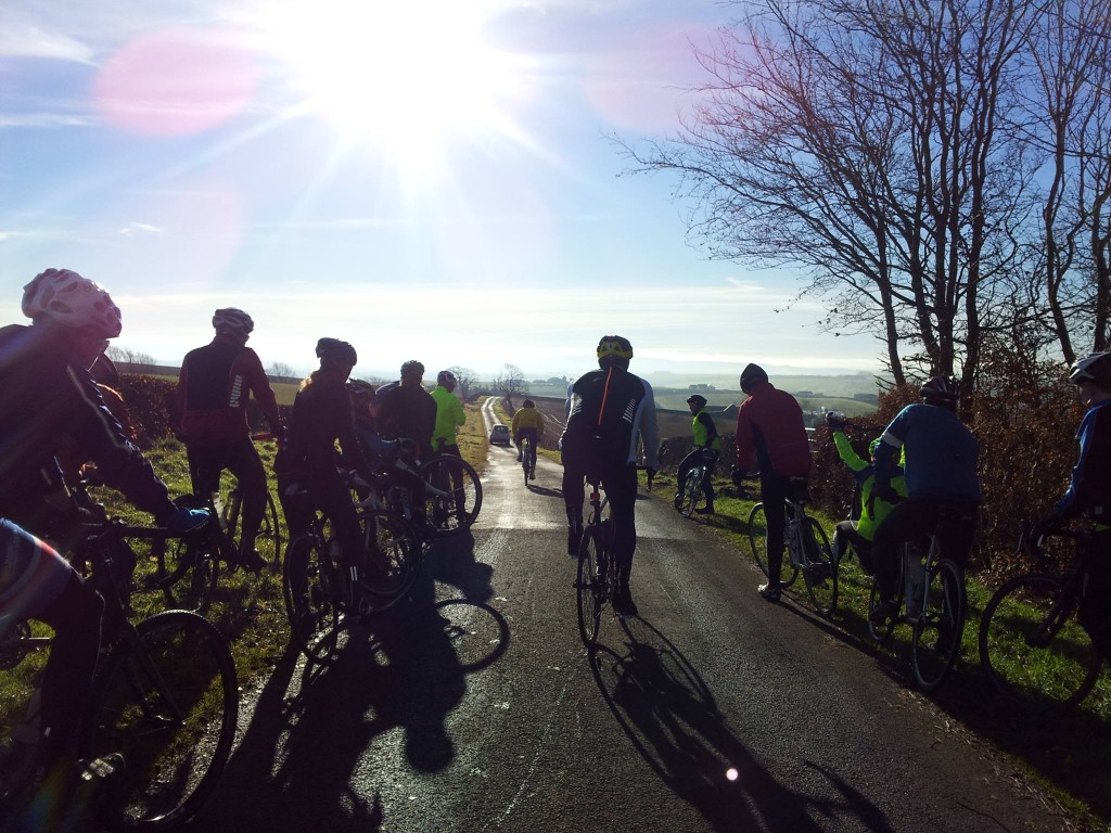 Riders enjoyed stunning winter sunshire throughout the ride