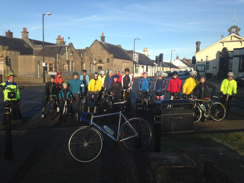 19 riders turned out for the Ayrshire Ardennes ride