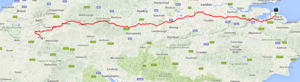 Click the map to see the full Strava profile for Alex' amazing ride