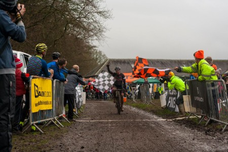 Euan Lindsay took this great pic of David Hamill (Pedal Power) leading the B Race home